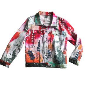 Dolcezza Simply Art Painted Denim Look Jacket